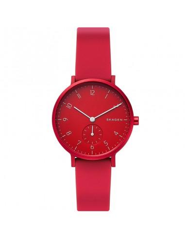 Reloj Skagen de aluminio Aaren rojo...