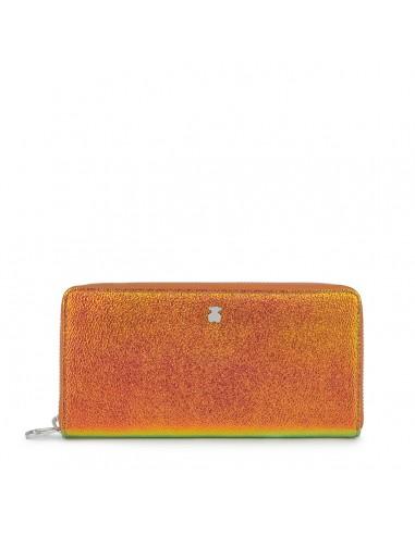 Tous billetera Dorp iriscente naranja