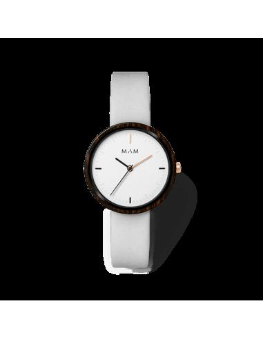 Reloj Mam plano Ébano gris