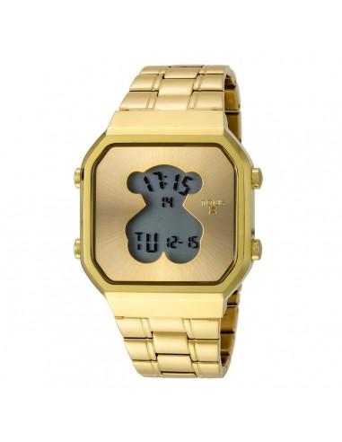 Reloj D-Bear SQ de acero IP dorado
