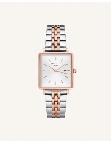 Reloj Rosefield The Boxy bicolor rosa