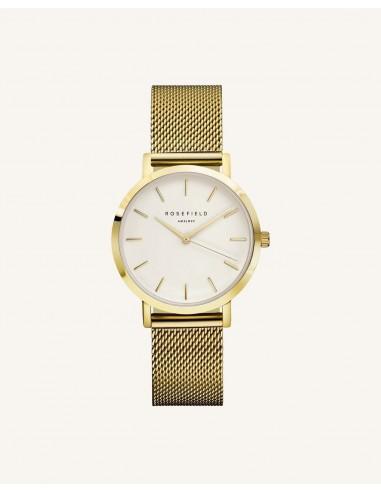 Reloj Rosefield The Tribeca blanco oro