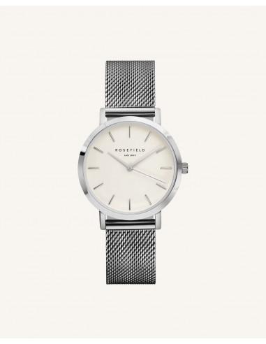 Reloj Rosefield Tribeca blanco plata