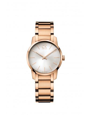 Reloj Calvin Klein City en IP rosa