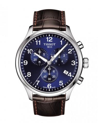 Reloj Tissot Chrono XL con correa marrón