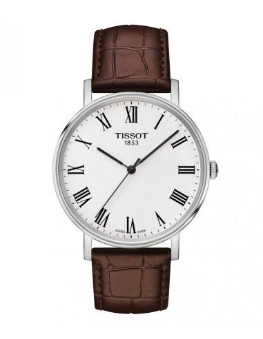 Reloj Tissot Everytime con correa marrón