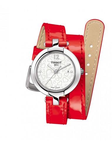 Reloj Tissot Pinky señora correa roja