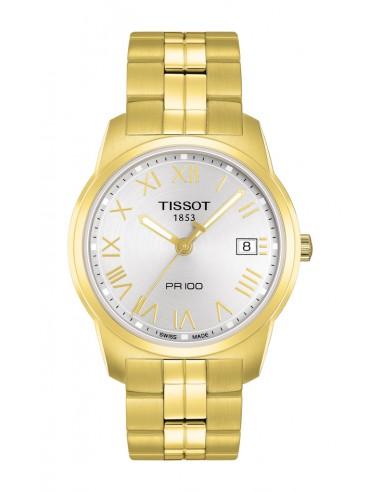 Reloj Tissot Pr100 en PVD dorado