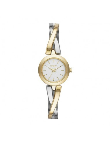 Reloj Dkny Crosswalk bicolor dorado