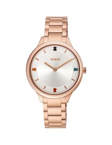 Reloj Tous Tartan de acero IP rosado