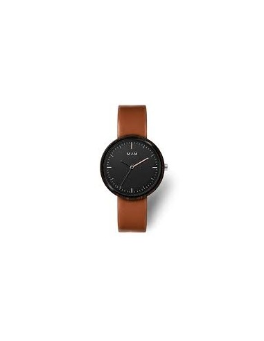 Reloj Mam plano de Ébano correa marrón
